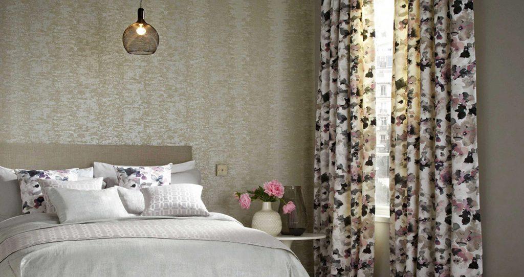 Flowery Bedroom Curtains