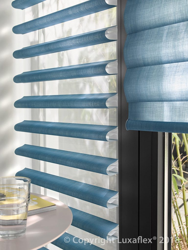 Blue Pirouette Blinds