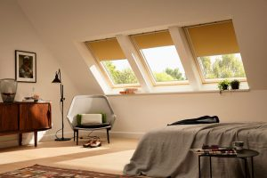 Yellow Velux Window Blinds