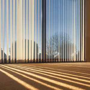 Vertical Blinds on large open window